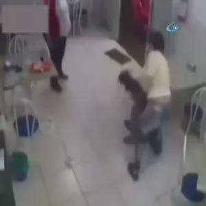 Genç kadından hırsıza unutamayacağı ders