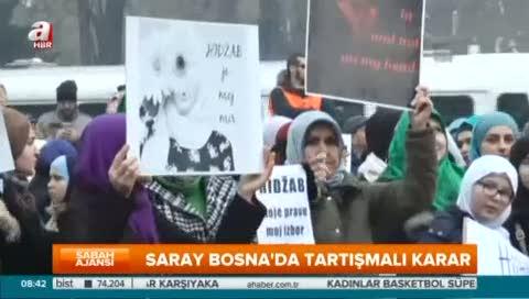 Bosna Hersek'te başörtüsü yasağına tepki