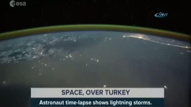Fırtına Türkiye üzerindeyken uzaydan böyle göründü