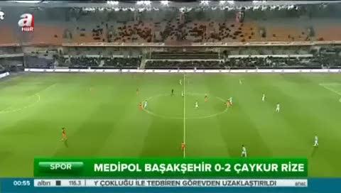 Medipol Başakşehir: 0 - Çaykur Rizespor: 2 (Özet)