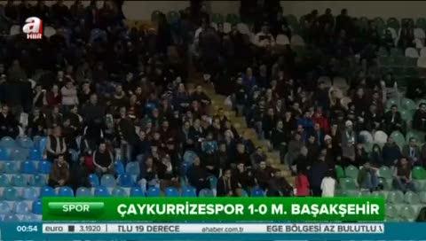 Çaykur Rizespor: 1- Medipol Başakşehir: 0 (Özet)