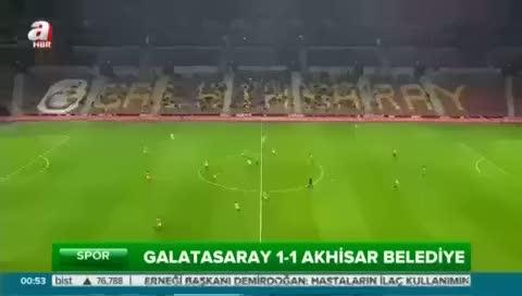Galatasaray: 1- Akhisar Belediyespor: 1 (Özet)