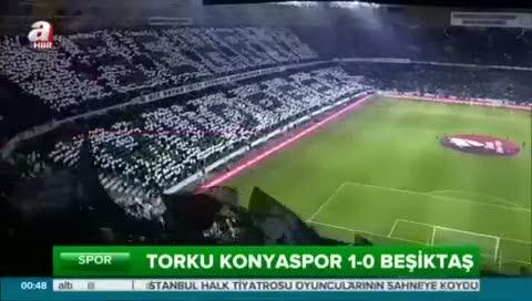 Torku Konyaspor: 1- Beşiktaş: 0 (Özet)