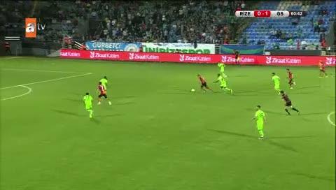Çaykur Rizespor 0- Galatasaray: 2