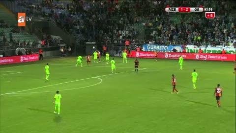 Çaykur Rizespor: 1- Galatasaray: 3