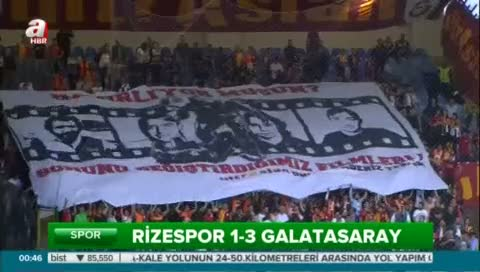 Çaykur Rizespor: 1- Galatasaray: 3 (Özet)