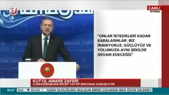 """Cumhurbaşkanı Erdoğan """"İnlerine girdik, giriyoruz"""""""