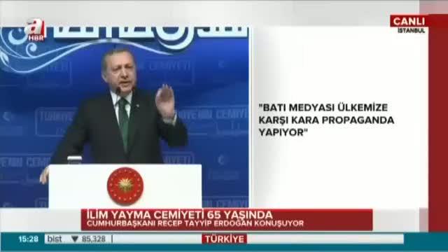 """Cumhurbaşkanı Erdoğan """"Bu millet kendi göbeğini kendisi kesecektir."""""""
