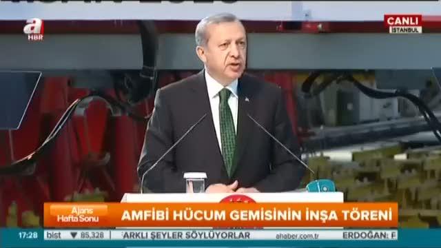 Cumhurbaşkanı Erdoğan TCG Anadolu Gemisi'nin İnşa Başlangıç Töreni'ne katıldı