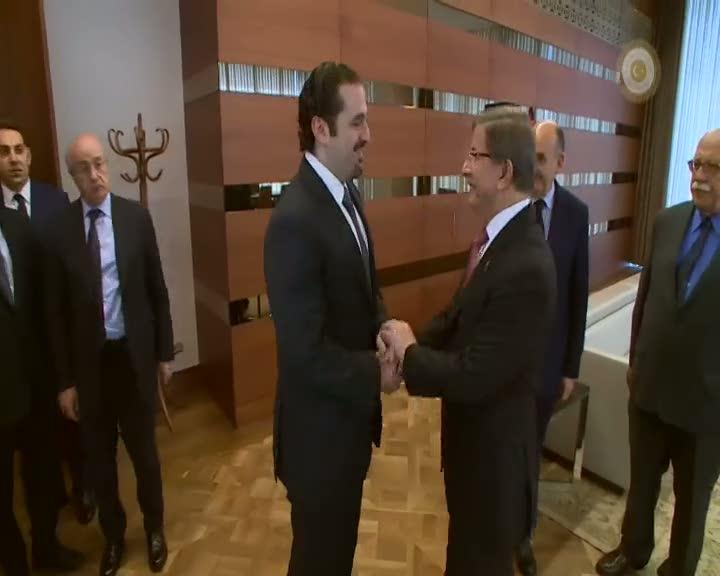 Başbakan Davutoğlu, Eski Lübnan Başbakanı Hariri ile görüştü
