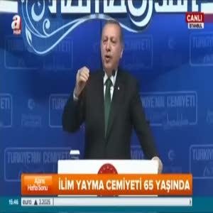 """Cumhurbaşkanı Erdoğan """"Bunlara kalsaydık muhtar bile olamazdık"""""""