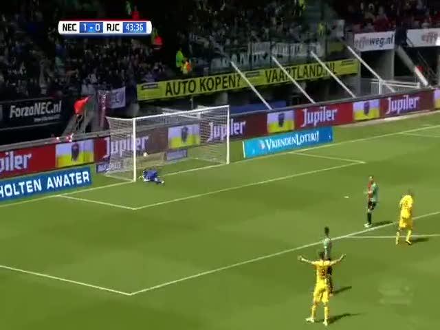 Hollanda'yı sallayan muhteşem vole golü!