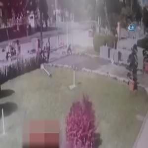Emniyete bombalı saldırı kamerada!