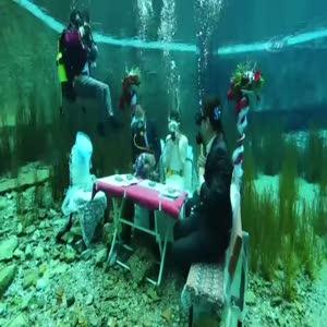 Nikah suyun altında kıyıldı