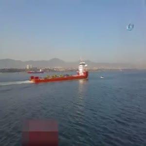 Marmara Denizi'nde dehşet anları kamerada!