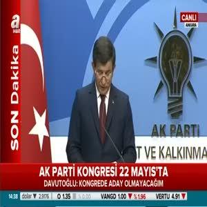 """Davutoğlu: """"Cumhurbaşkanımızla son nefesime kadar vefa ilişkisini sürdüreceğim"""""""