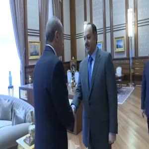 Cumhurbaşkanı Erdoğan Katar'ın Savunmadan Sorumlu Devlet Bakanı'nı kabul etti