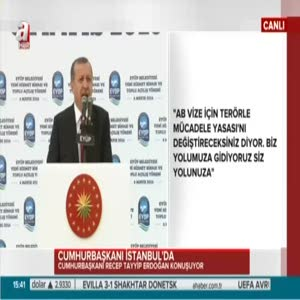 """Erdoğan: """"Sayın Davutoğlu'na teşekkür ediyorum"""""""