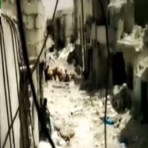 YPG keskin nişancı mevzii böyle havaya uçuruldu