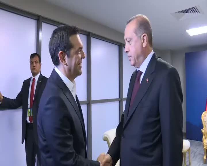 Erdoğan'dan Çipras'a gülümseten 'kravat' sorusu