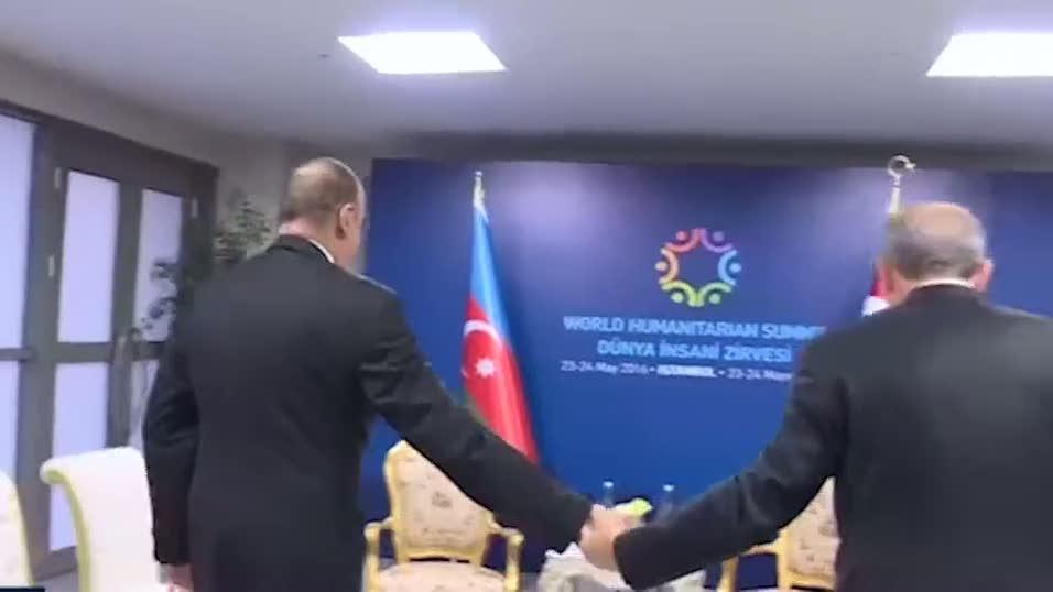 Erdoğan'dan Aliyev'e sıcak karşılama