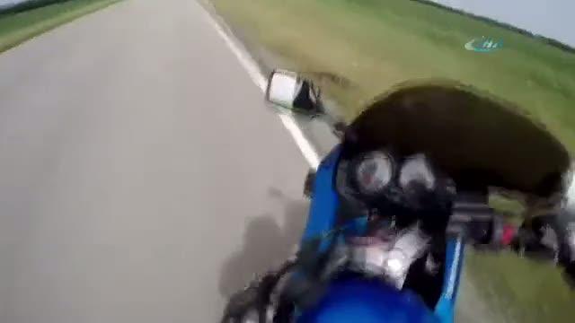Motosiklet sürücüsü aşırı panik yaparsa...