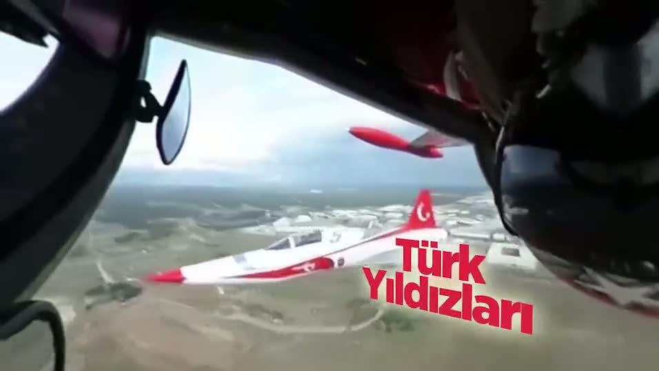 Türk Yıldızları'nın 360 derece 'baş döndüren' görüntüleri