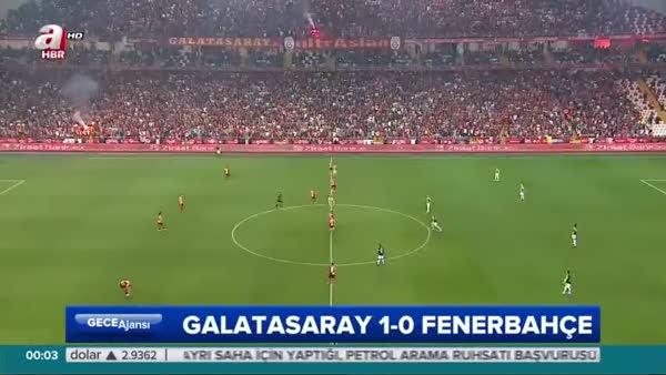 Galatasaray: 1- Fenerbahçe: 0 (Özet)