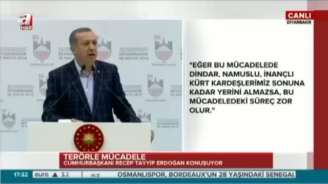 """Cumhurbaşkanı Erdoğan """" Hep beraber omuz omuza bu işi bitireceğiz"""""""