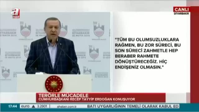 """Cumhurbaşkanı Erdoğan """"Kürt ve Türk etle tırnak gibidir asla ayrılmaz"""""""
