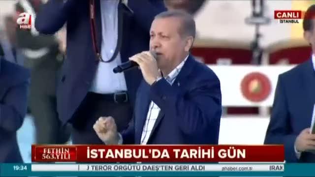 Cumhurbaşkanı Erdoğan'dan anlamlı şiir...