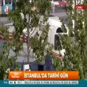 Cumhurbaşkanı Erdoğan Fetih Şöleni alanına indi!