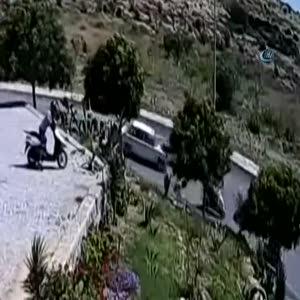 Fransız turist motosikletiyle böyle uçtu!