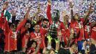 Copa America 2016'da penaltılarla kazanan Şili kupayı kaldırdı
