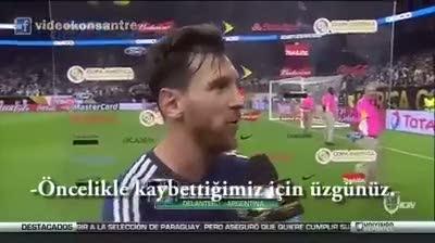Esprili alt yazılı Lionel Messi'nin açıklaması!