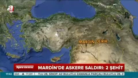 Mardin'de askeri araca bombalı saldırı
