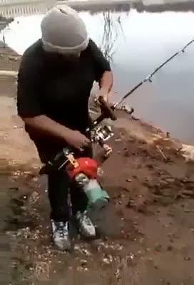 Elektrikli testere ile balık nasıl tutulur?