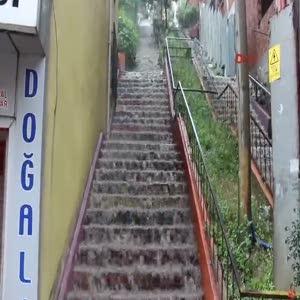 Zonguldak'ta yağmur etkili oldu