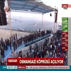 Cumhurbaşkanı Erdoğan ve Başbakan Yıldırım Osmangazi köprüsünü açtı