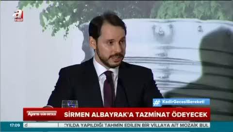 Sefa Sirmen Enerji ve Tabii Kaynaklar Bakanı Berat Albayrak'a tazminat ödeyecek!
