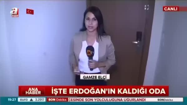 Cumhurbaşkanı Erdoğanın kaldığı, darbecilerin saldırısına uğradığı o oda!