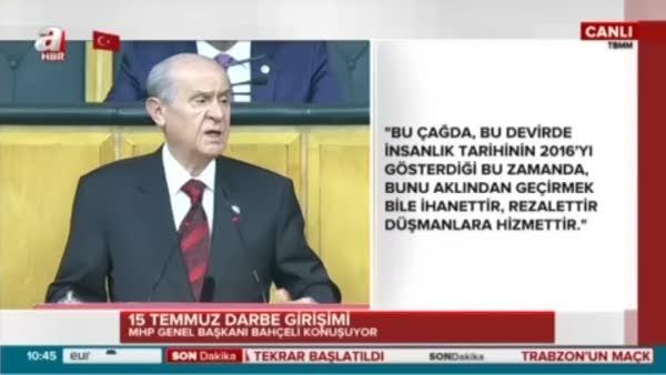 Devlet Bahçeli: PKK ve IŞİD'ten ne farkı vardır bunlar vatan hainidir
