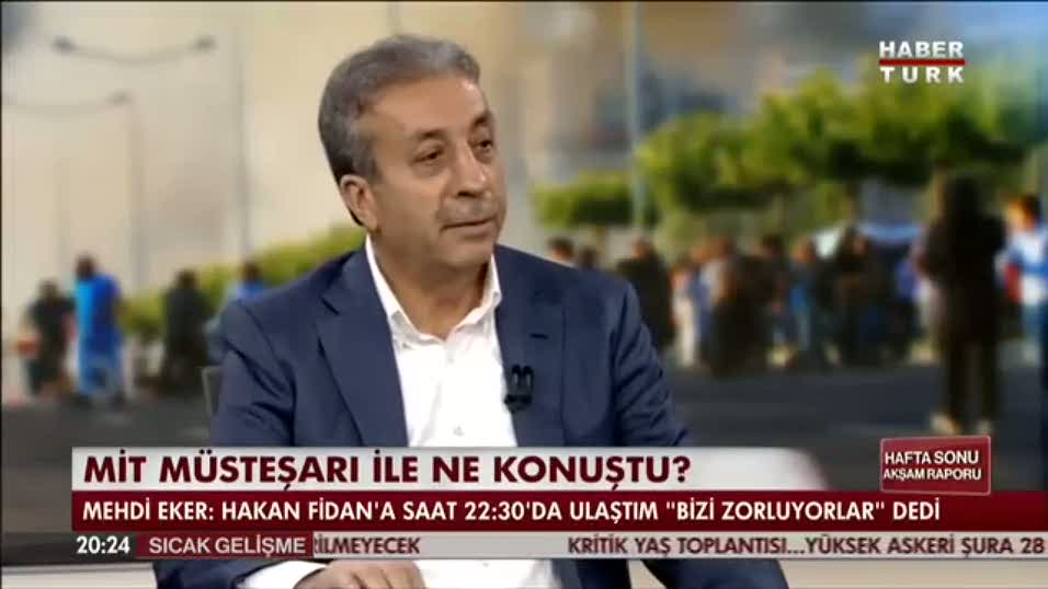 """Mehdi Eker """"Hakan Fidan 'Çok sıkıntı var' dedi"""""""