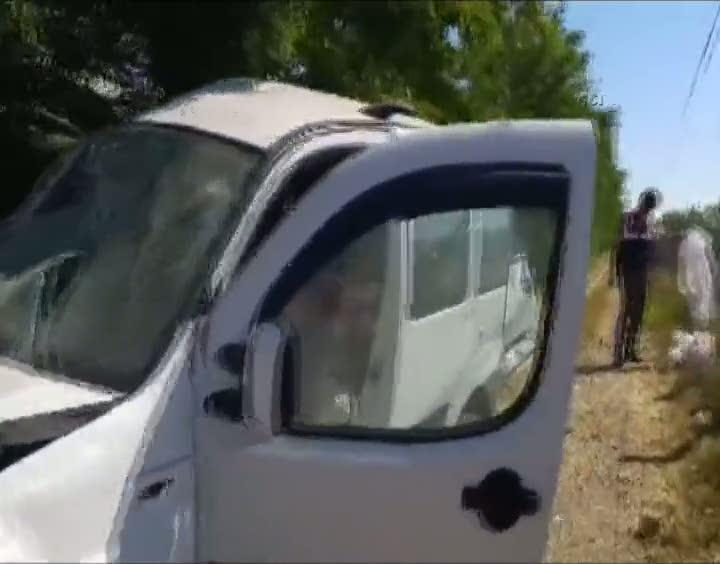 Çankırı'da yoldan çıkan araç kaza yaptı!