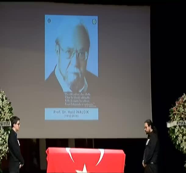 Tarihçi Prof. Dr. Halil İnalcık için Ankara Üniversitesi Dil ve Tarih, Coğrafya Fakültesi'nde veda töreni düzenlendi