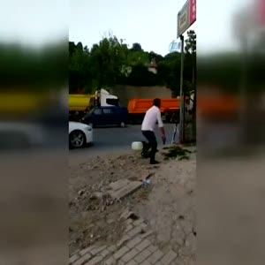 Şehit polisin darbeci hain tarafından vurulma anı kamerada