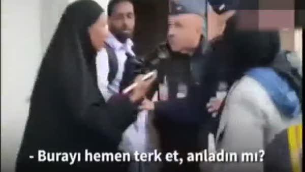 Fransız polisi çarşaflı kadını böyle tartakladı!