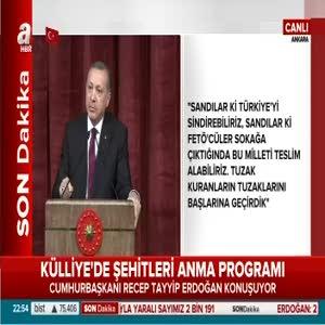 Cumhurbaşkanı Erdoğan: Onbinlercesini temizleyeceğiz