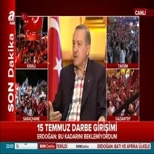 Erdoğan darbe girişiminin asıl hedefini anlattı