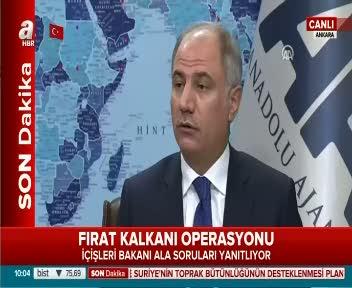 İçişleri Bakanı Efkan Ala ''Türkiye terörle savaş halinde''